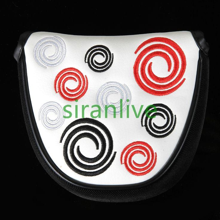 Il trasporto Libero 1 pz Nuova golf ODY Funziona Headcovers Putter Per Mazze da golf Mallet Semicerchio Cerchio blu ody Headcovers Magnete