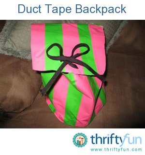This is a guide about making a duct tape backpack. Duct tape is currently a popular crafting medium.
