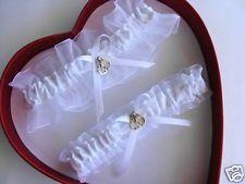 New White On Wedding Garter SELECT Set Keepsake Toss Plus Size