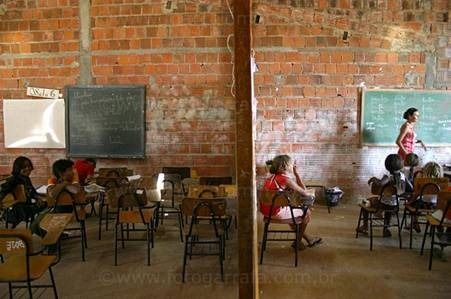 Malas condiciones para el trabajo de los alumnos en las escuelas.