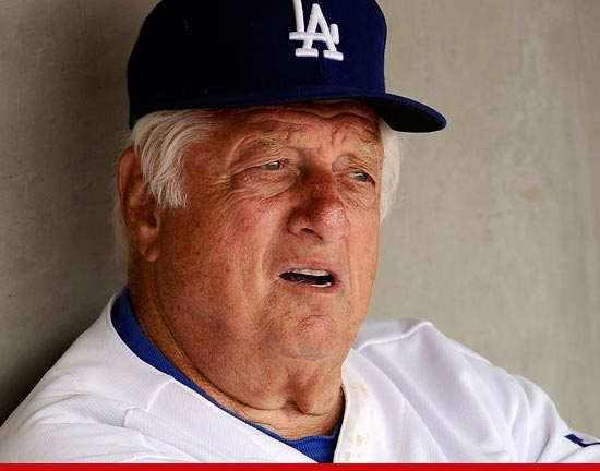 Baseball legend Tommy Lasorda has suffered a heart attack and is in a NY hospital...should be released soon as they said it was a mild heart attack.