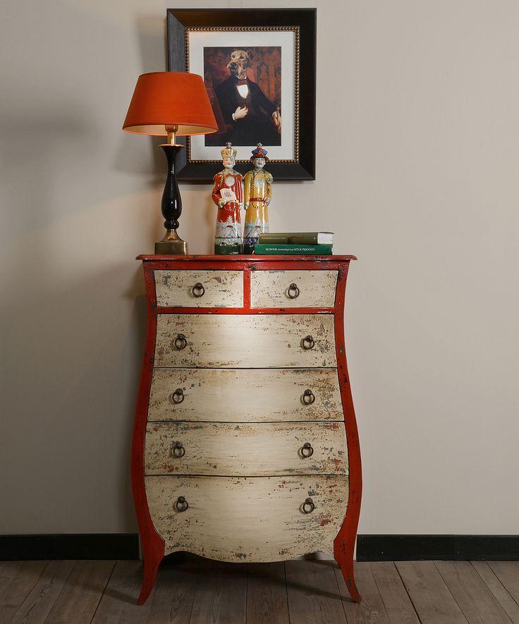 Komoda Lyre, podstawa lampy Slim, obraz Dynasty, dekoracje Shandong