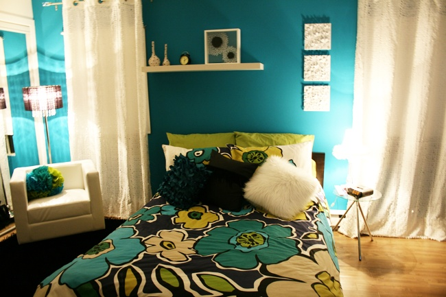 #teal #bedrooms #white