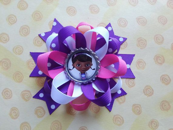 Doc mcstuffins hair bow also available for monkey by bellecaps, $4.75