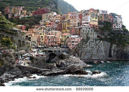 Manarola village in Cinqueterre area, Italy. by Adriano Castelli, via ShutterStock