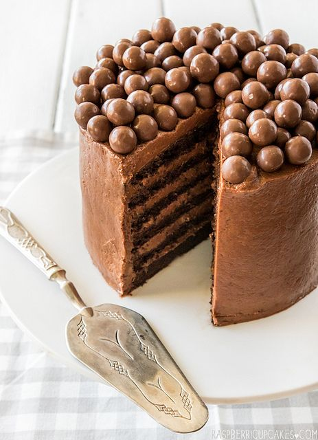 Chocolate Mousse Layer Cake by raspberri cupcakes, via Flickr