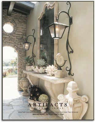 Artifacts International  #CustomFurniture - I want that stone console table!