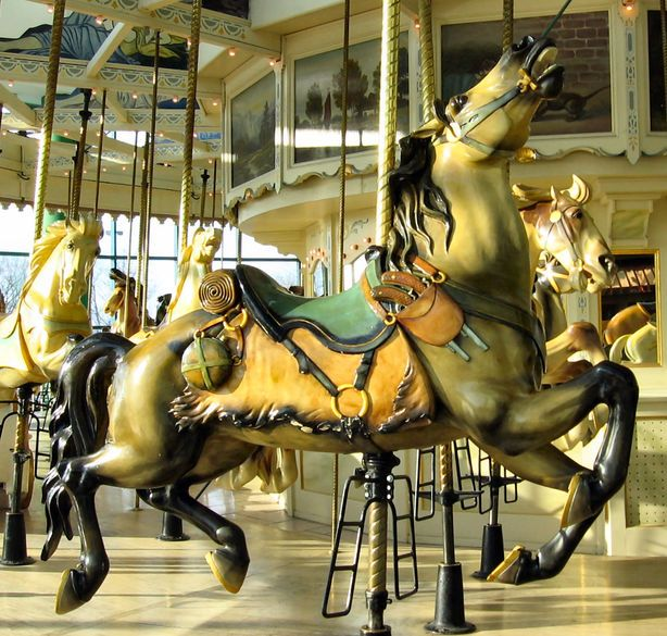 Carousel Center Carousel at the Carousel Center Mall, Syracuse, NY. (by Susan Germain)