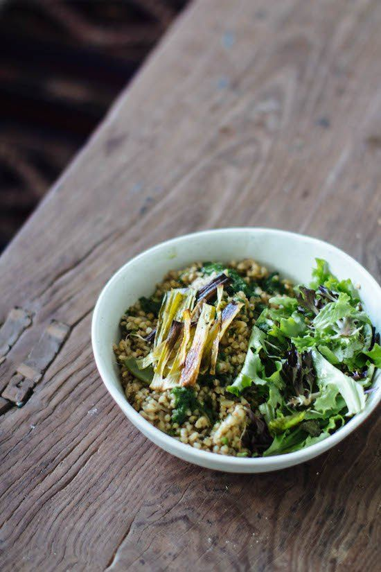 buckwheat risotto // gratitude and greens // #vegan #plantbased #recipe #spring