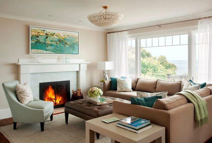Пастельный интерьер дома у моря. Дизайн интерьера от LeBlanc Design