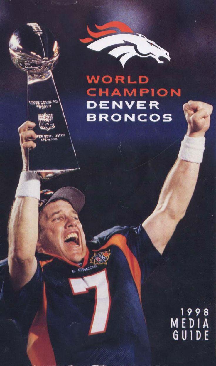 Media Guide 1998 // 1998 (14-2) // Head Coach: Mike Shanahan // AFC West Finish: 1st // Home Stadium: Mile High Stadium