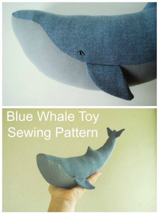 Blue Whale soft toy sewing pattern. Whale plushie pattern. How big or tiny will …