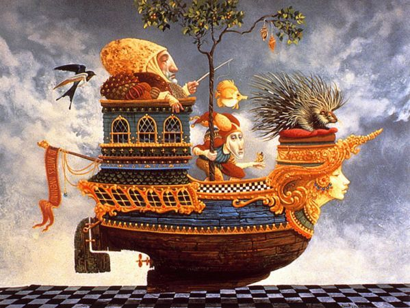 James C. Christensen Returning the Princess Porcupine