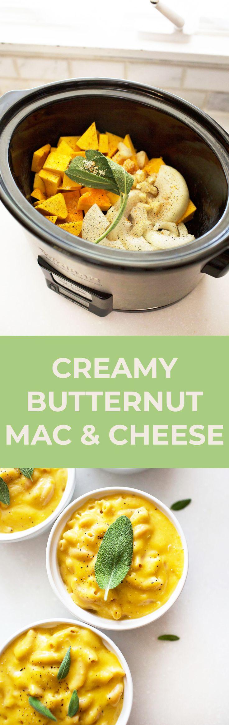 Crock pot butternut mac & cheese