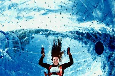 Zorbing : Head over heels inside a wheeling zorb M. Rogers/Getty Images