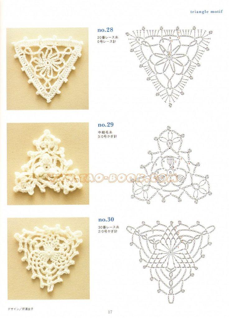 Triangulos de Crochet                                                                                                                                                                                 Más
