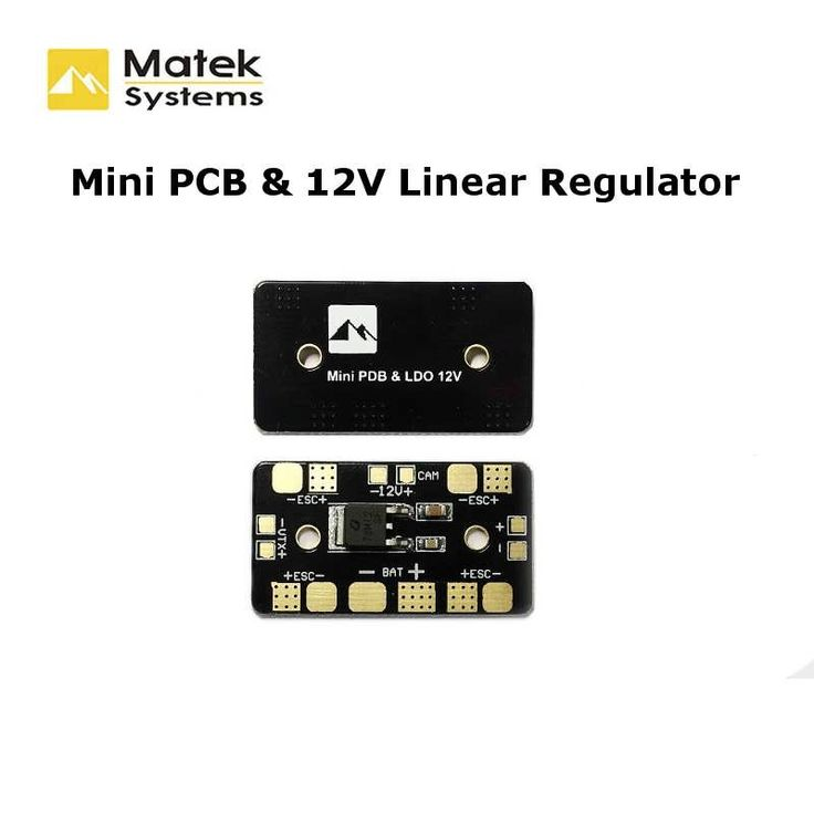 Matek Mini PDB Power Distribution Board With 12V Linear Voltage Regulator For FPV Multicopter       Special for the frame kit without PCB:    Description:  Brand Name: Matek  Item Name: Mini PDB & Linear Regulator 12V  Working Voltage: 3~6S LiPo  Linear Output Voltage:...