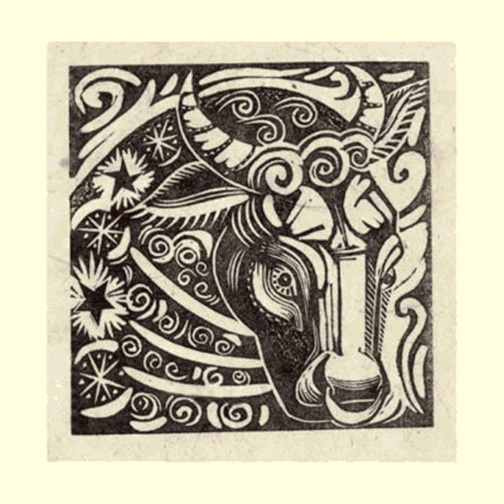 Taurus (Apr 20 - May 20) - Linocut by Sarah Young