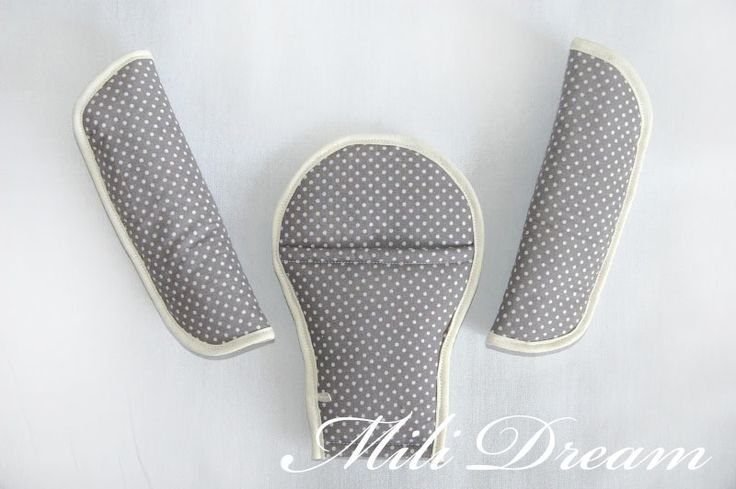 Ochraniacze / nakładki na pasy do wózka/ fotelika w Mili Dream na DaWanda.com