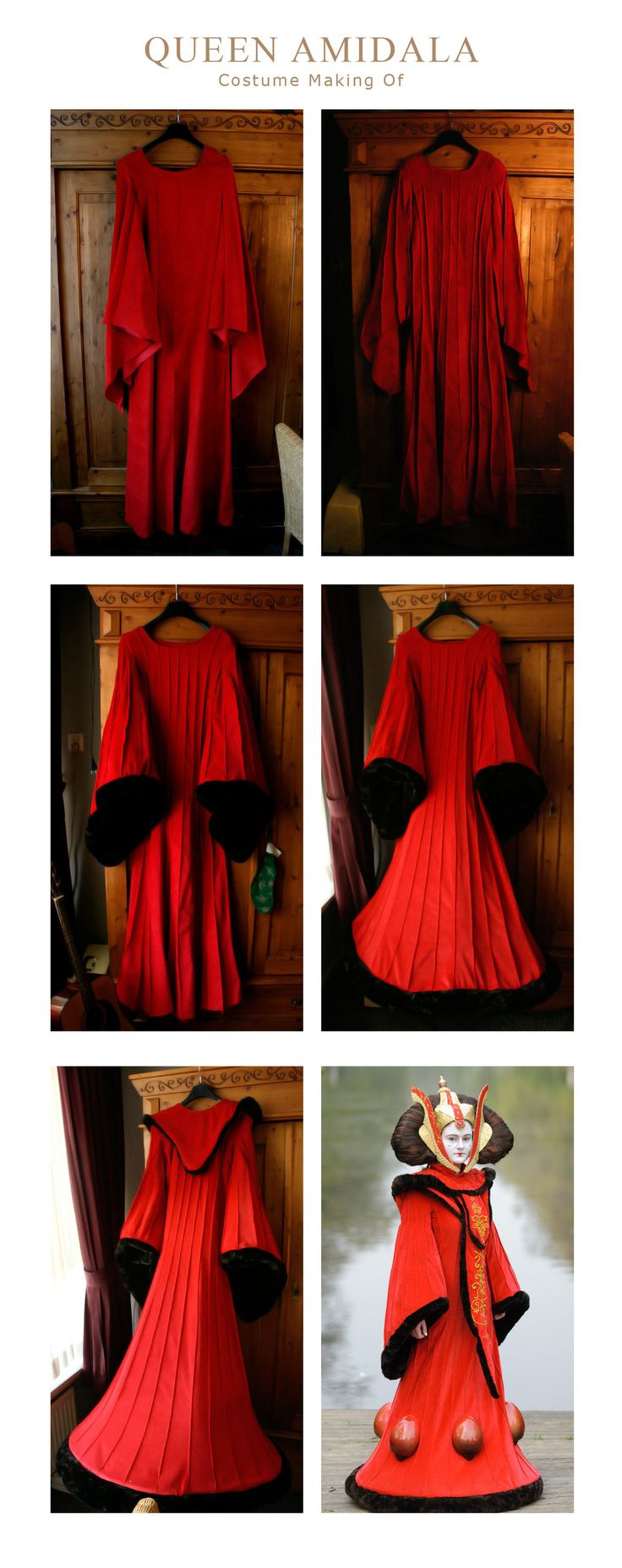 Making of Queen Amidala Dress by Riluna.deviantart.com on @deviantART