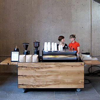Coffee cart at the Whitney Museum