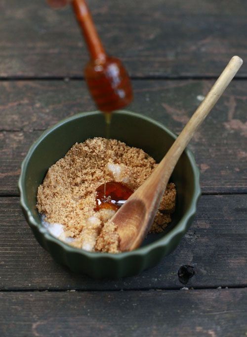 Make a foot scrub of honey, sugar, coconut oil and peppermint.