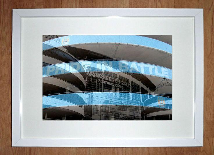 "Manchester City Framed Art Print -  ""Pride In Battle"""