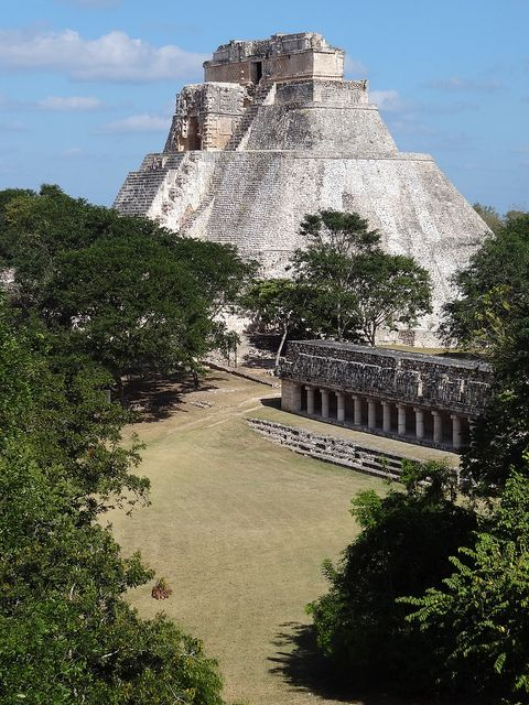 Magician's Pyramid, Uxmal...aptly named, the whole place is magical, even in the hot humid summer