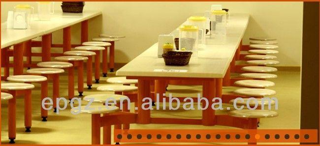Hout cafe stoelen en tafels, fast food tafels en stoelen voor 4 personen, cafe tafels