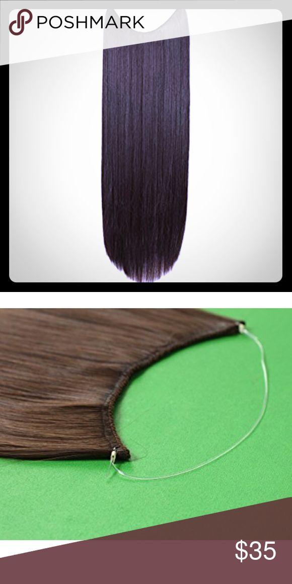 24 Straight Dark Brown Halo Hair Extensions