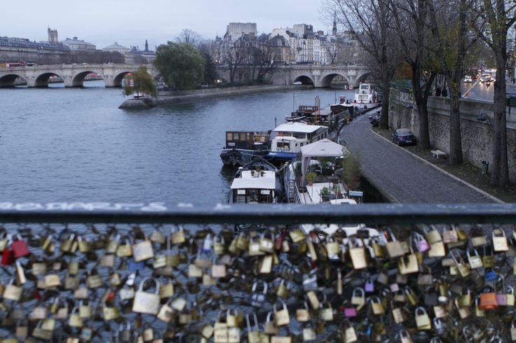Bridge with Locks in Paris