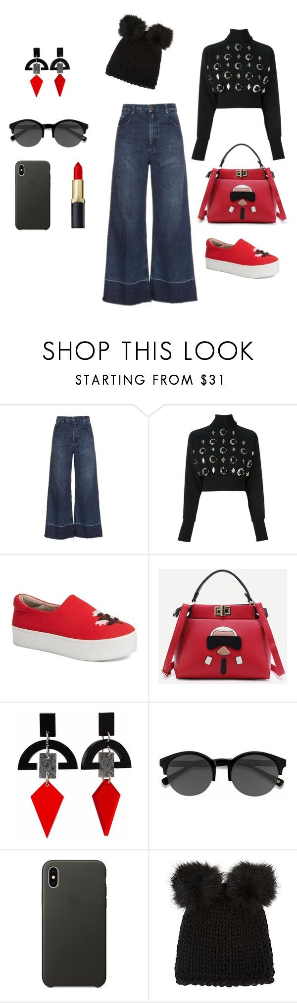"""Untitled #148"" by kameliya-6711 ❤ liked on Polyvore featuring Rachel Comey, David Koma, Opening Ceremony, Toolally, EyeBuyDirect.com, Apple and Barneys New York"