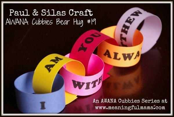 Paul and Silas Craft - AWANA Cubbies Bear Hug #19