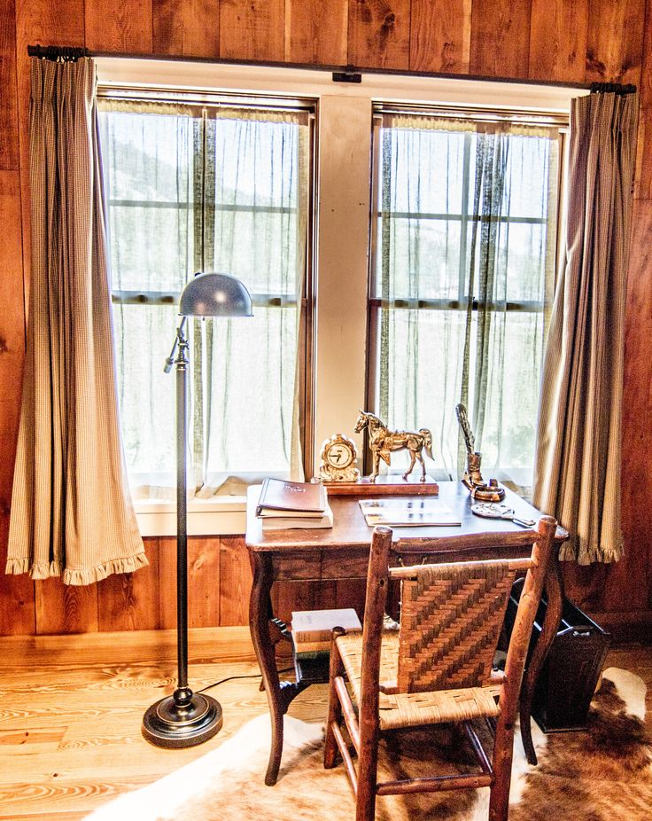 While it can be hard to imagine working while staying at The Ranch at Rock Creek - when it's far more fun to play in the snow - this corner of Palomino Granite Lodge suite is a cozy place to catch up on emails or write a travelogue.