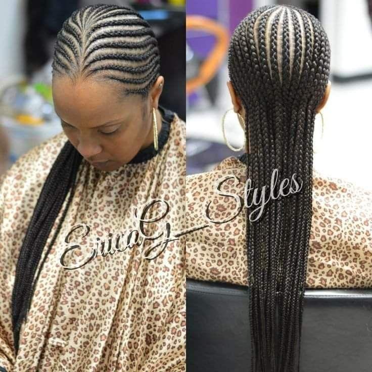 Straight Back African Braids Hairstyles Braid Styles Hair Styles