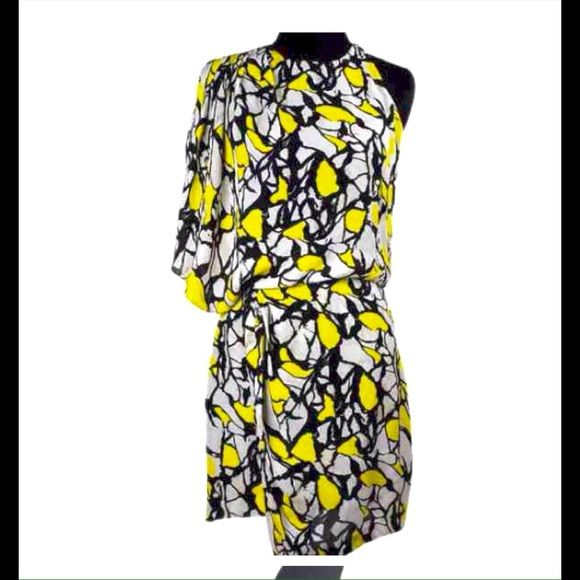 $1.99 ship HP! Robert Rodriguez Silk Dress  HPRobert Rodriguez yellow black ivory silk print dress size 4. Robert Rodriguez clothing line has been celebrated within the fashion industry and worn by a number of a list celebrities ! 100% silk lining is 97% polyester 3% spandex. There is a zipper on the right side and the left shoulder clasp.   I actually saw this dress for sale on a consignment website for $290 used so this is a great deal. !  Robert Rodriguez Dresses Midi