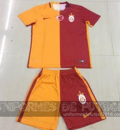 Jersey local para uniforme del Tailandia Galatasaray 2015-16 | uniformes de futbol economicos