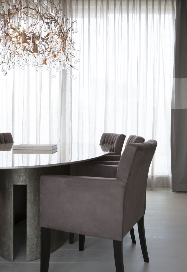 Byron & Jones Interiors - Lightning - Meridiani - Arm Chairs - Curtains - Dining table