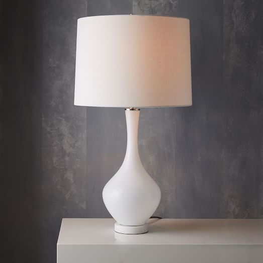 West elm rejuvenation colored glass table lamp tall west elm