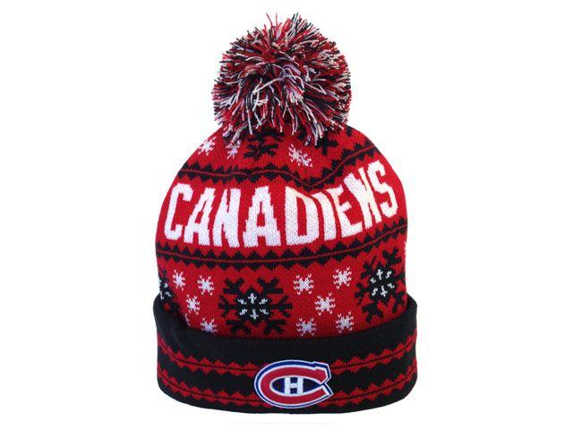Tuque avec pompon des Canadiens de Montréal