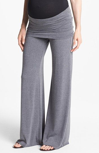 Are you serious? Yes please. Maternal America Knit Flare Leg Maternity Pants | Nordstrom
