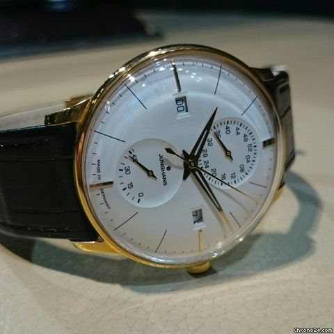 Junghans Meister Agenda ad: £1,444 Junghans Meister Agenda Ref. No. 027/7366.00; Steel; Automatic; Condition 0 (unworn); Year 2017; New; With box; With pa