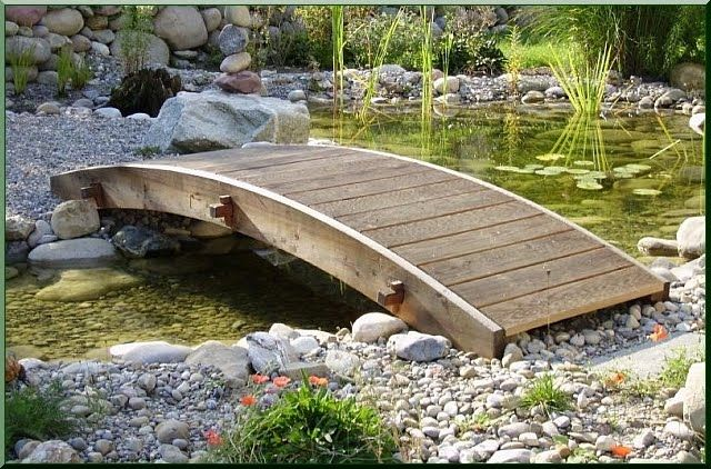 Holzbrücke - Akazien Holz Ildare