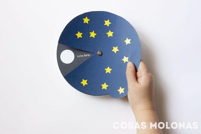 Manualidades para niños / Las fases de la luna (+ imprimible) | Cosas Molonas | Bloglovin'