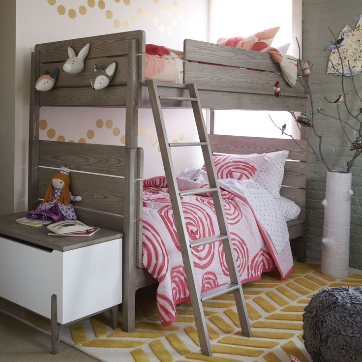 how to style a girls bedroom bunk bed