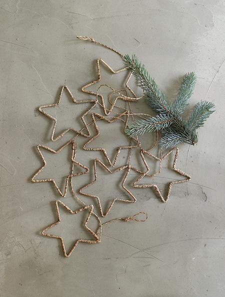 DIY wire star ornaments