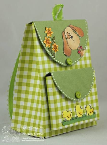 Backpack Box - Stampavie Helz images by MichelleO - Cards and Paper Crafts at Splitcoaststampers