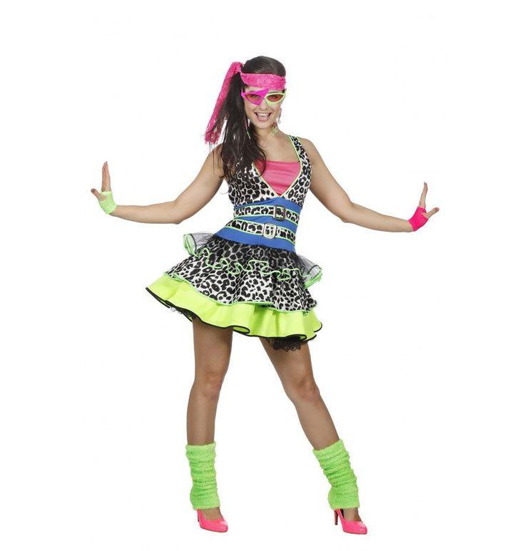 Wild Aerobics Dans Vrouw Kostuum