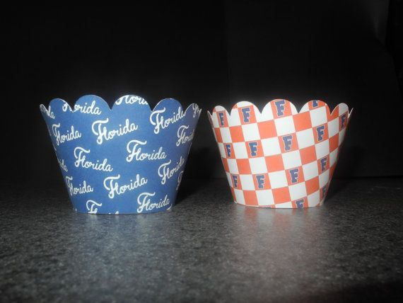 Gator Univeristy of Florida UF Wrappers Set by DyansCupcakeCouture