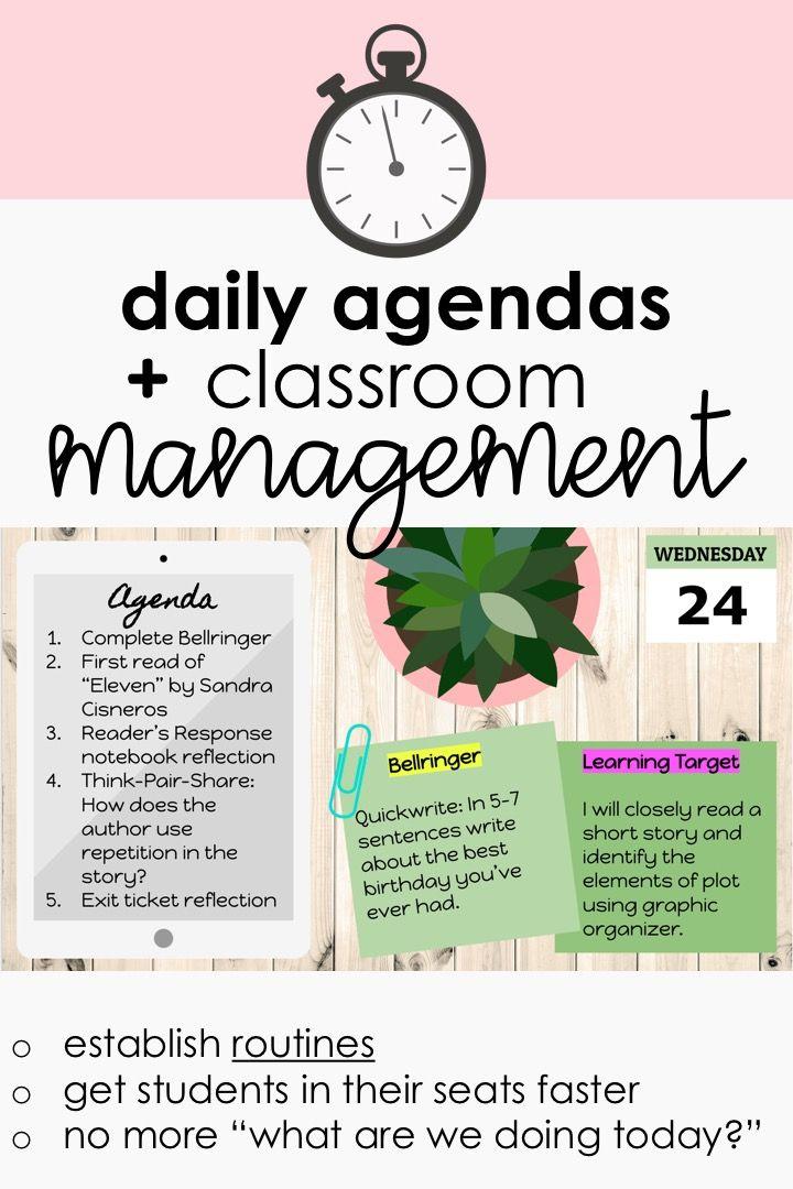Daily Agenda Google Slides Set 5 Middle School Classroom